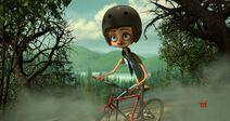 Parker on her bike