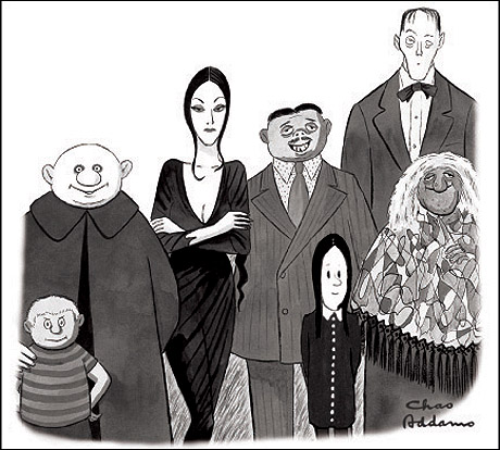 Addams Family sketch Charles Addams