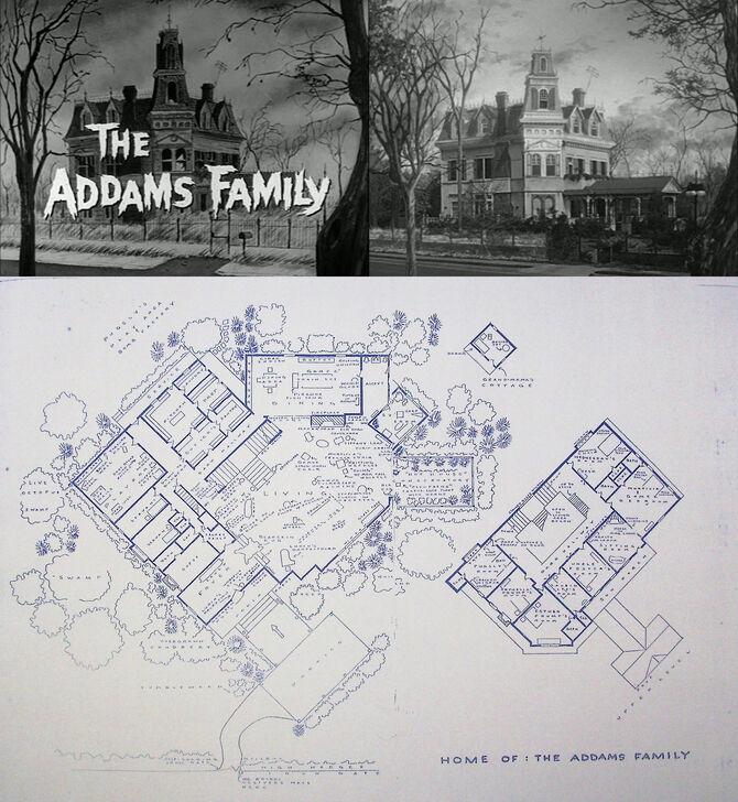 План Дома Семейки Аддамс