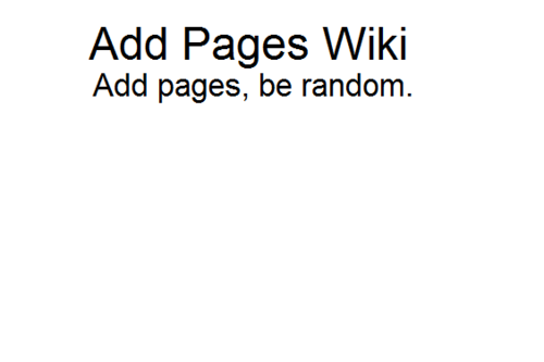 Addpages Wiki