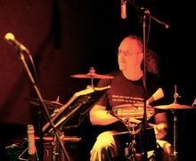 Me on the hybrid kit - Craig Lauritsen hand hammered cymbals