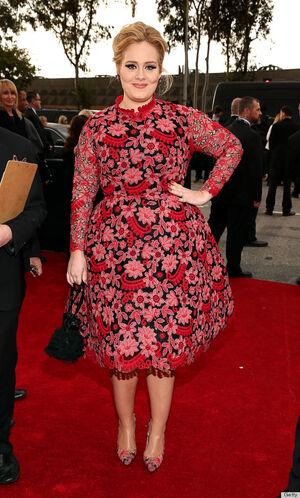 Adele-grammys-2013-red-carpet