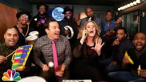 "Jimmy Fallon, Adele & The Roots Sing ""Hello"" (w Classroom Instruments)-0"