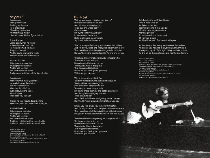 image adele 19 booklet page 1 jpg adele wiki fandom powered by