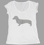 Dog Ladies White T-Shirt