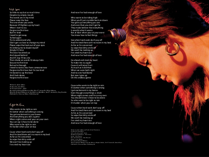 image adele 19 booklet page 4 jpg adele wiki fandom powered by
