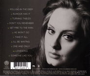 Adele 21 Back Cover