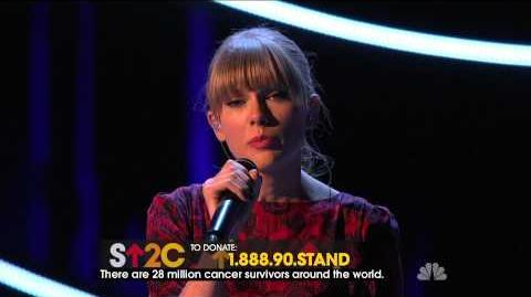 Taylor Swift - Ronan - Stand Up 2 Cancer
