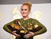 Adele with Grammys 2017