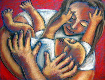 File:Acrylic mother and child.jpg