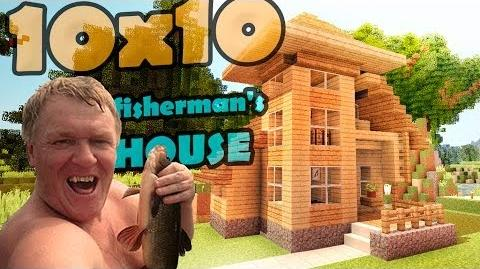 Minecraft 10x10 house - дом рыбака