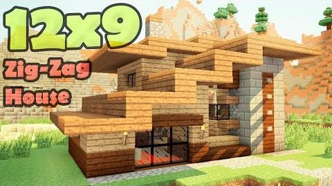 Minecraft 12x9 house - дом дизайнера