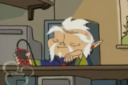 Lao Shi Listening to His MP3 Player