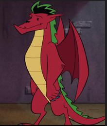 Jake as a dragon in Season 1