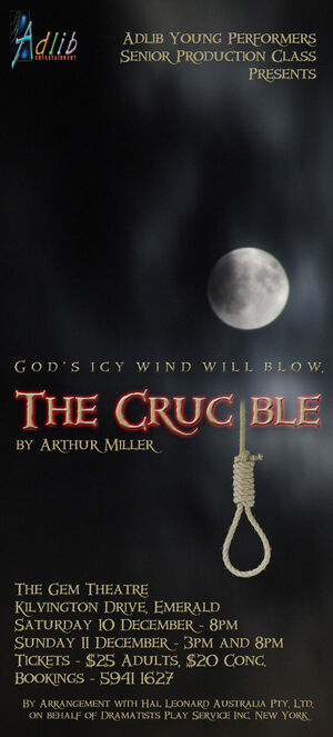 Crucible DL Flyer