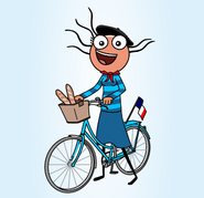 French Cyclist - Illustartion by Alexander Taylor