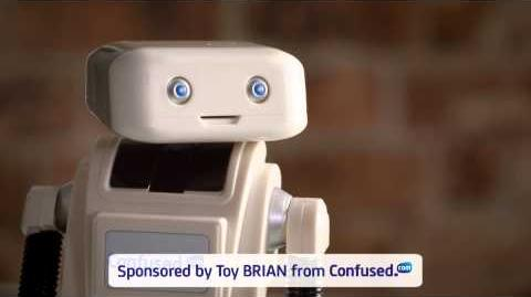 BRIAN the Robot finds Toy BRIAN cheeky – Confused