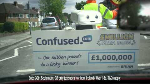 BRIAN the Robot is giving away £1 million in the Confused.com £Million Mega Draw