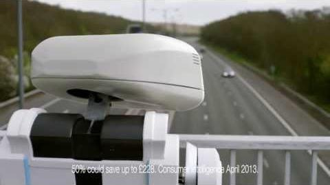 BRIAN the Robot hones his car insurance comparison skills on a motorway - Confused.com