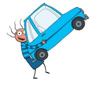 Cara-carrying-car