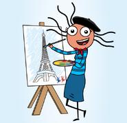 Paris Artist - Illustartion by Alexander Taylor
