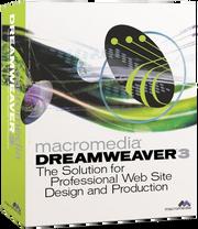 Macromedia Dreamweaver 3 box