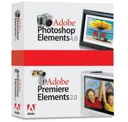 Adobe Photoshop Elements 4 plus Adobe Premiere Elements 2 box
