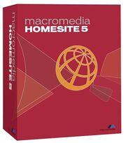 Macromedia HomeSite 5 box