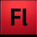Adobe Flash CS4 icon+shadow
