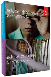 Adobe Photoshop Elements 14 & Adobe Premiere Elements 14 box