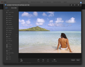 Adobe Photoshop Express Editor in browser