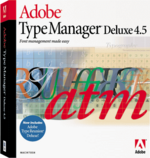Adobe Type Manager Deluxe 4.5 box