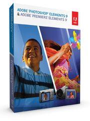 Adobe Photoshop Elements 9 & Adobe Premiere Elements 9 box
