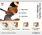 Adobe InDesign CS PageMaker Plug-in Pack screen