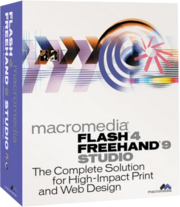 Macromedia Flash 4 FreeHand 9 Studio box