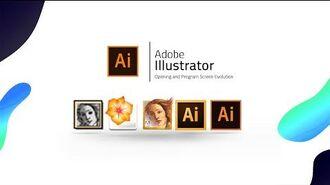 Adobe Illustrator Evolution (1987-2018) Opening and Program Screen Evolution
