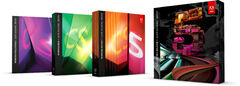 Adobe Creative Suite 5 family boxes