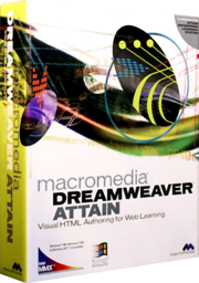 Macromedia Dreamweaver Attain box
