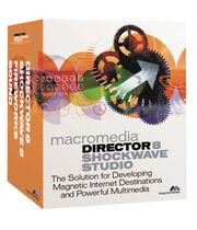 Macromedia Director 8 Shockwave Studio box