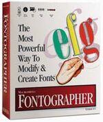 Macromedia Fontographer box