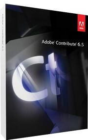Adobe Contribute 6.5 box