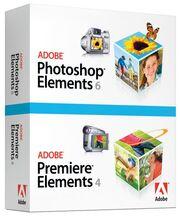 Adobe Photoshop Elements 6 & Adobe Premiere Elements 4 box