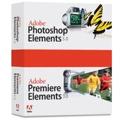 Adobe Photoshop Elements 5 plus Adobe Premiere Elements 3 box