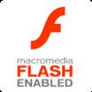 Macromedia Flash Enabled logo