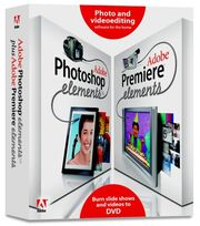 Adobe Photoshop Elements 3 plus Adobe Premiere Elements 1 box