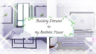 Adopt me aesthetic futuristic house SPEEDBUILD Pt 3- Entrance
