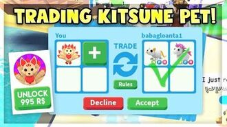 What People Trade for LEGENDARY KITSUNE PET in Adopt Me! Roblox Adopt Me Trading