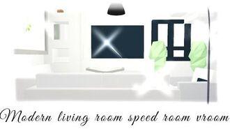 Aesthetic Modern adopt me fairy house SPEEDBUILD Pt 1- Living room
