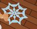 Snowflake Frisbee