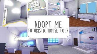 Modern Futuristic House Tour ~ Roblox Adopt Me 🌠